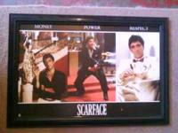 SCARFACE POSTER/SHADOWBOX 27 INCHES WIDE x 33 INCHES