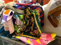Scarves, scarves and even more scarves! Numerous to