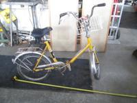 Vintage Schauff Regent folding bike with book rack on