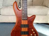 Excellent condition Schecter Stiletto Bass Neck-Thru