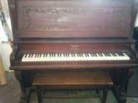 SCHILLER UPRIGHT GRAND PIANO. COMES WITH BENCH. DONT
