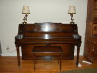 Very nice upright Schiller piano. Serial number 87228.