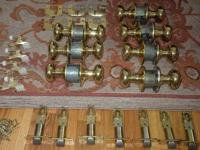 This a Lot of seven Schlage Plymouth Brass interior