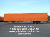 Schneider National is selling 2000-2004 Wabash Dry Van