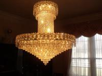 This grand, exquisite, vintage Schonbek chandelier
