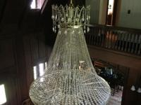 Schonbek Crystal Chandelier - $750 plus hiring