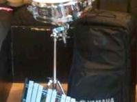 DRUM KIT FOR SCHOOL BAND , SNARE DRUM , STAND , BELL