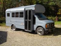 for sale is a 1997 gmc school bus converted to camper