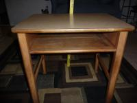 Used child's school desk, solid maple, laminate top,