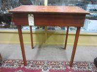 This is a nice School Masters desk with a slanted