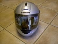 The helmet was bought new and worn for one road trip.