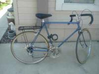 This is a early 1970's Schwinn 10 speed bike. This bike