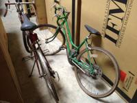 his and hers, requires some work, 80.00 each.   schwinn