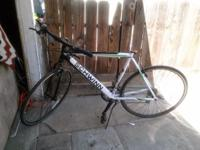 "White/green 29"" thin tires, damaged seat (Still have"