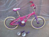 "I'M SELLING THIS SCHWINN 16"" GIRLS BIKE WITH TRAINING"