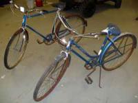 Schwinn 1960-70 Pair of Adult bicycles --His and Hers.
