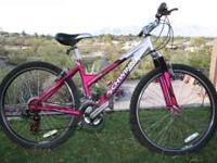 "Like new ""Womens inspired"" Schwinn with 26 inch wheels,"