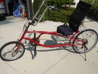 Schwinn 24 Speed Recumbent Bike in line new condition.