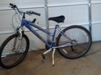 "Womens 26"" Schwinn Sidewinder 21 speed bike, one"