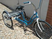 1966 vintage Schwinn 3 wheel adult trike, ,frt and rear