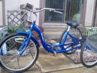 Schwinn 26 In. Meridian 3 Wheel Bike With Blue Aluminum