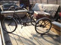 Single speed with coaster brake. With wicker basket and