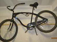 MUST SELL> Black beach cruiser, used 1 summer. Like