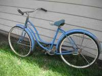 Schwinn Girl's Bike - 70's Blue, great shape, little