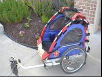 Schwinn bike trailer and jogger stroller in great