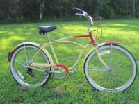 Nice riding older bike, 5 speed with handbrakes. Call