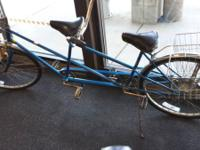 Right here is a Schwinn Delux Twinn tandem bike. It is