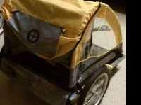 For sale is a schwinn express bike trailer that has