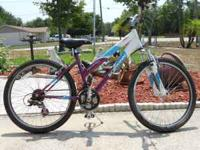 "schwinn girl's 24"" sidewinder 21 speed bike in"