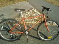 "18""(fits 5'4""-5'9"" ideally) copper chromoly Schwinn"
