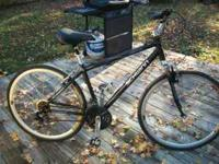 "Schwinn Hybrid 26"" black mountain bike. Rides great! 21"