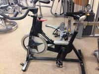 We have a Used Schwinn spin bike with easy-to-use