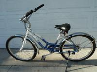 SCHWINN 'landmark' BEACH CRUISER. CHROME FENDERS. CHAIN