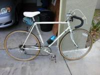 "1987 Schwinn Latour Bicycle White in color. 23"" frame,"
