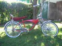 Red- 1960's Schwinn Lowrider Custom Bike- Call or email