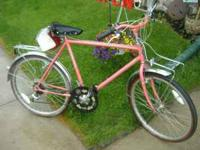 SCHWINN MIRADA HYBRID (SALMON COLOR), FRONT AND REAR