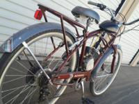 Up for sale is a schwinn motorized bicycle, runs great.