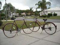 Matching pair of Schwinn World Turist (1980s) Ladies