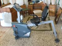 This is a Schwinn Recumbent Stationary Bike with cardio