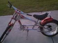 "20"" Red & Chrome Orange County Chopper Schwinn. Has the"
