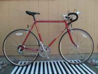"Schwinn 10 Speed Road Bike. 22"" Frame.. 27"" Wheels."