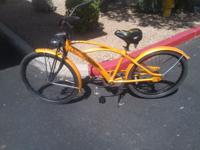 "Schwinn beach cruiser 26"", burnt metallic orange color,"