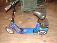 Blue, Schwinn S350 Electric scooter. Has charger,