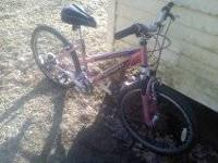 good condishon kept inside. bike is a pink 10 speed