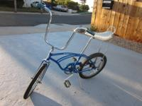 Schwinn Stingray--color blue. August,1965 frame, serial