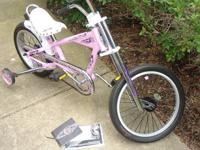 "Schwinn Stingray 16"" Girl's Pink Chopper Rear Brake:"
